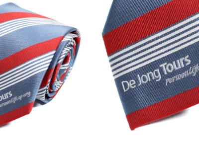 De-jong-tours-stropdas-ingeweven-logo