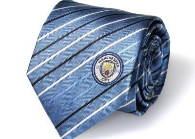 Manchester-City-Stropdas-zijde-gestreept