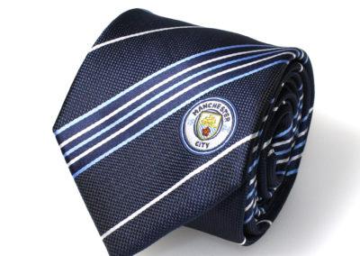 Manchester-City-stropdas-polyester-gestreept