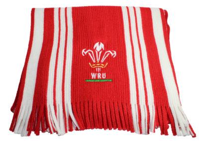 WRU-gebreide-sjaal